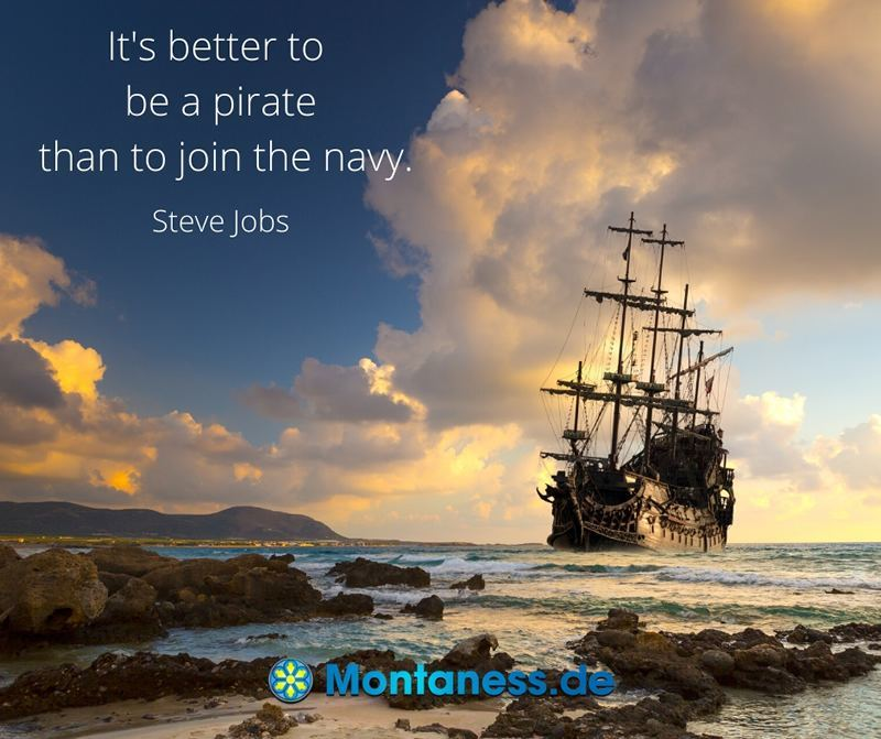 Its better to be pirate than to join the navy