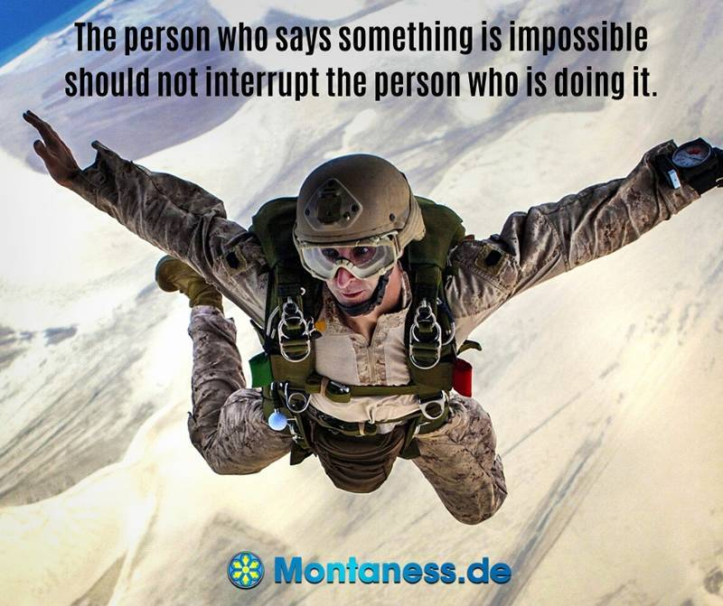 176-The person who says something is impossible